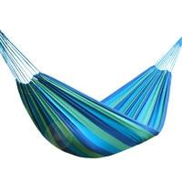 Garden Swing Canvas Portable Outdoor Travel Hammock Sports Stripe Camping Single Person Hammock Hang Bed