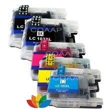 цена на 5 COMPATIBLE INK CARTRIDGE FOR BROTHER MFC J245 J285DW J4310DW J4410DW J450DW J4510DW J4610DW J470DW LC103