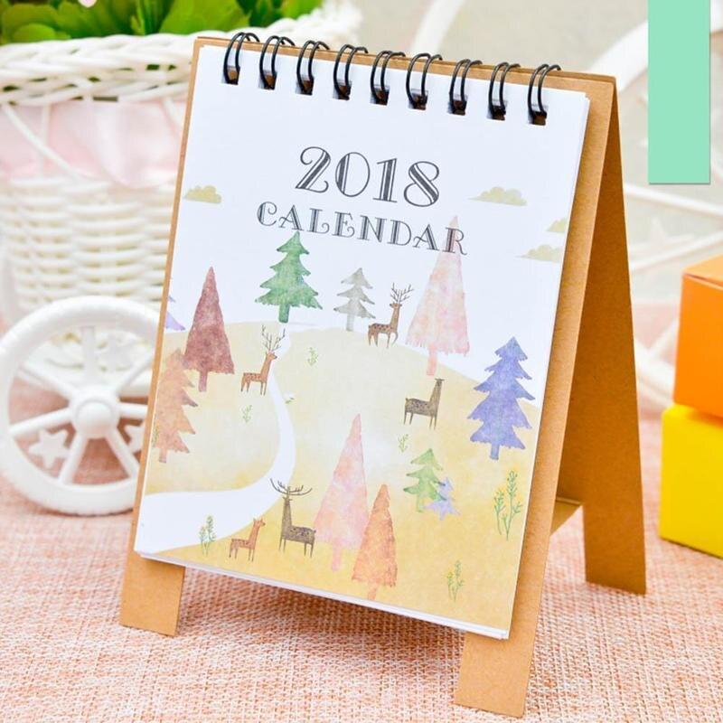 Calendar Calendars, Planners & Cards Vividcraft Desk Calendar 2018 Year Cartoon Kawaii Paper Planner Desk Standing Paper Multifunction Organizer Schedule Notebook
