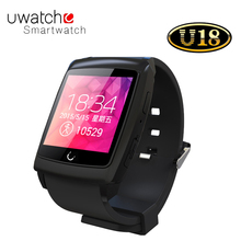 U watch U18 Android 4.4 Dual coreบลูทูธการตรวจสอบการนอนหลับนาฬิกาเข็มทิศMTK6571สมาร์ทนาฬิกา