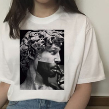 michelangelo david ulzzang harajuku t-shirt tshirt women print t shirt summer ae