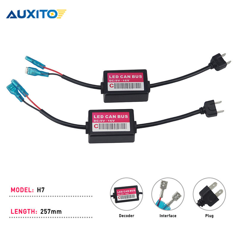 Auxito H7 <font><b>LED</b></font> <font><b>Canbus</b></font> Decoder For Car <font><b>Led</b></font> Headlights H8 H11 9005/HB3 9006/HB4 <font><b>H4</b></font>/9003 Warning Canceller Error Free Load Resister image