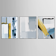 Factory wholesale (No Framed) Modern abstract art Canvas Print On Printing Wall Pictures KJQ-272