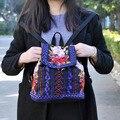 Новый Урожай Вышивка рюкзак Цветочный узор вышитые сумки на ремне, моды небольшой личность Школьный Путешествия Рюкзак