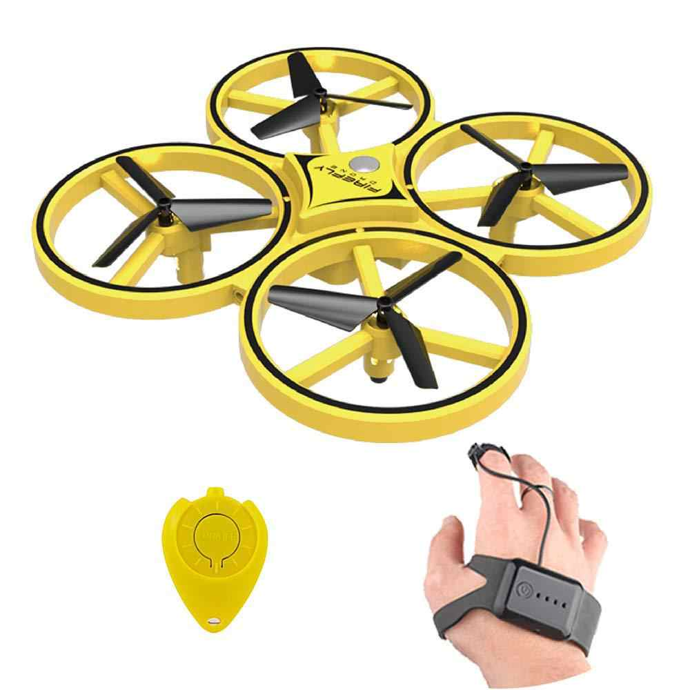 HobbyLane ZF04 RC Drone Mini Infrared Induction Hand Control Drone Altitude Hold 2 Controllers Quadcopter for Kids Toy Gift