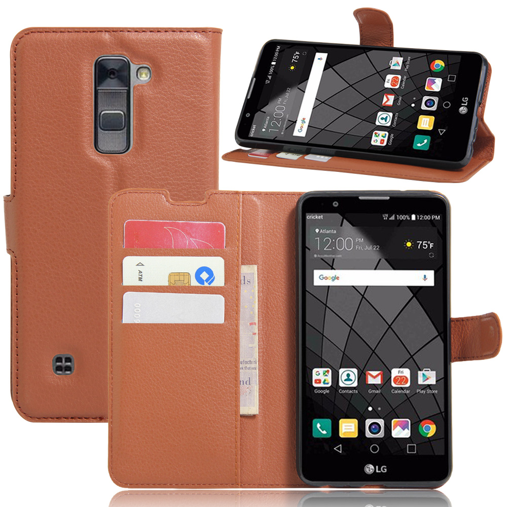 new arrival 876ec f809e Fashion Wallet PU Leather Case Cover For LG Stylus 2 LS775 K520/ LG Stylo 2  Flip Protective Phone Back Shell Visa Card Slot