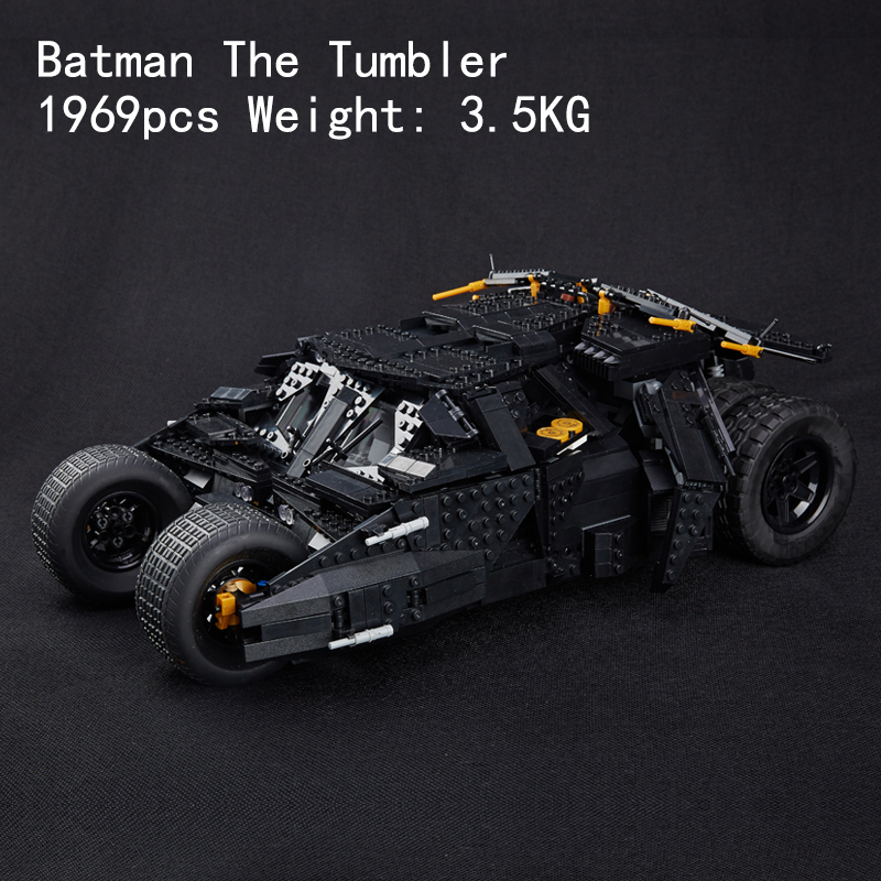 compatible legoinglys super heroes Batman The UCS Tumbler 1969pcs Building Blocks Toys For Children Gift 76023 single sale chromed infinity gauntlet with 24pcs power stones vision super heroes building blocks children gift toys sy1099 2