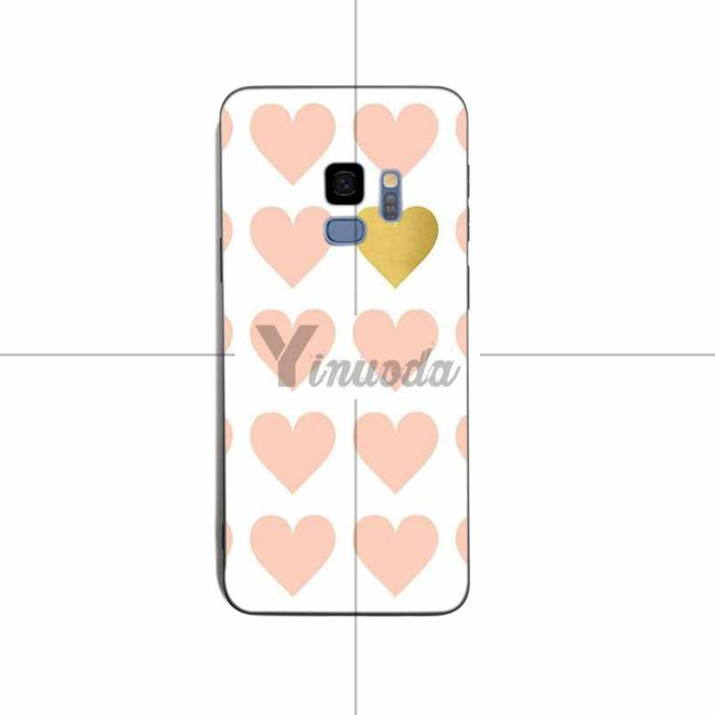 Yinuoda Gold Stippen Wave Hart Woord Siliconen Soft Cover Cases Voor Samsung S8 S9 S8plus S7 Rand Note 8 note 9