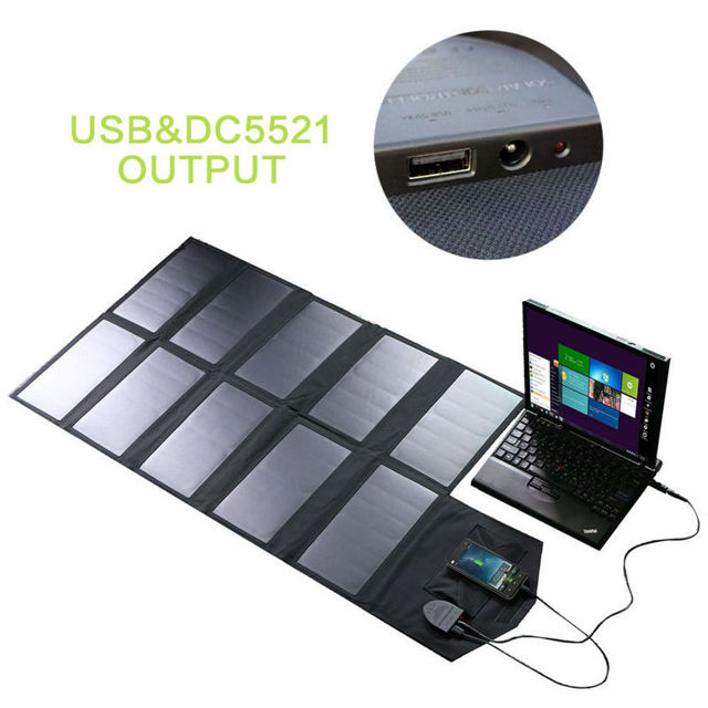 60W Portable Solar Panel Phone Charger Solar Car Battery Charger Solar Laptop Charger for Hiking Fishing Climbing Camping more