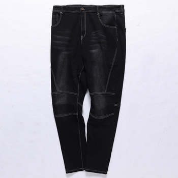 Large Size Big Men Jeans 10XL 12XL Trousers Business Office Pants High Waist Elasticity Straight spring and autumn Stretch Jeans