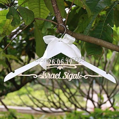 Boda de encargo perchas/vestido de novia percha con nombre y fecha ...