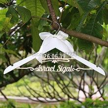 Пользовательские Свадебные/торжественное платье вешалка с именем и датой/Свадебные душ вешалка/невесты подарок