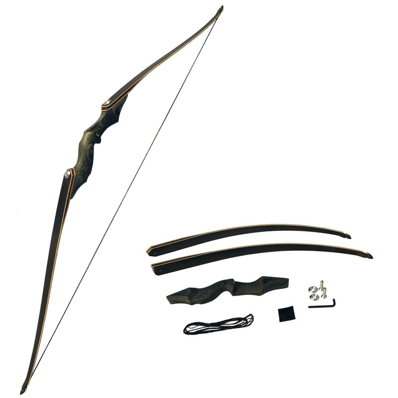 60inch Archery American Hunting Recurve Bow Takedown Bow Draw Weight