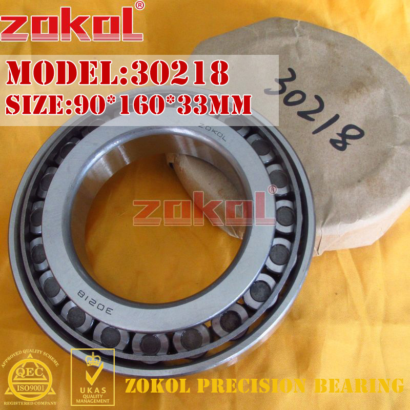 ZOKOL bearing 30218 7218E Tapered Roller Bearing  90*160*33mm na4910 heavy duty needle roller bearing entity needle bearing with inner ring 4524910 size 50 72 22