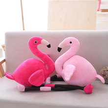 90cm Kawaii Fylld Toy Flamingos Plysch Toy Mjuk Simulering Djur Kudde Söt Samlingsrum Decor Leksaker För Barn Present