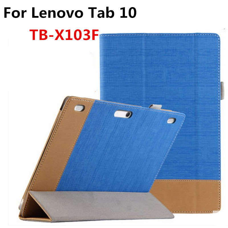 Fashion PU Leather Case Flip Book Magnetic Cover Tablet PC Shell For Lenovo Tab 10 TB-X103F TB X103F 10.1'' Tablet classic lichee folio book pu leather case with magnetic folio stand cover for lenovo tab 10 tb x103f x103f 10 1 tablet pc
