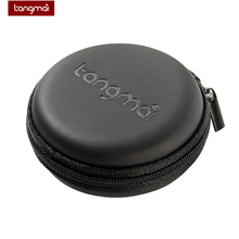 Earphone Bag Mini Zippered Round Storage Box Portable Black Green Case Headset Hard For TF SD Cards USB Cable