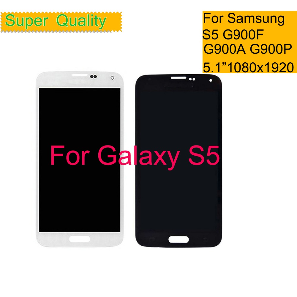 Super AMOLED Für <font><b>SAMSUNG</b></font> <font><b>GALAXY</b></font> <font><b>S5</b></font> G900F G900A G900P G900T G900V <font><b>LCD</b></font> Display Touchscreen Digitizer Panel Pantalla <font><b>LCD</b></font> Montage image