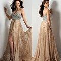2017 настроить различные цвета кристалл бисера шифон ПРОМ платья sexy party dress