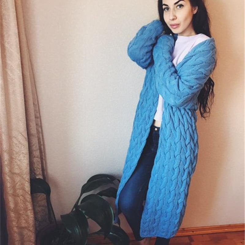 rugod 2018 Demons vs крючком для свитер для женщин длинный кардиган Vita платье женский открыть Stack кардиган пальто для женщин