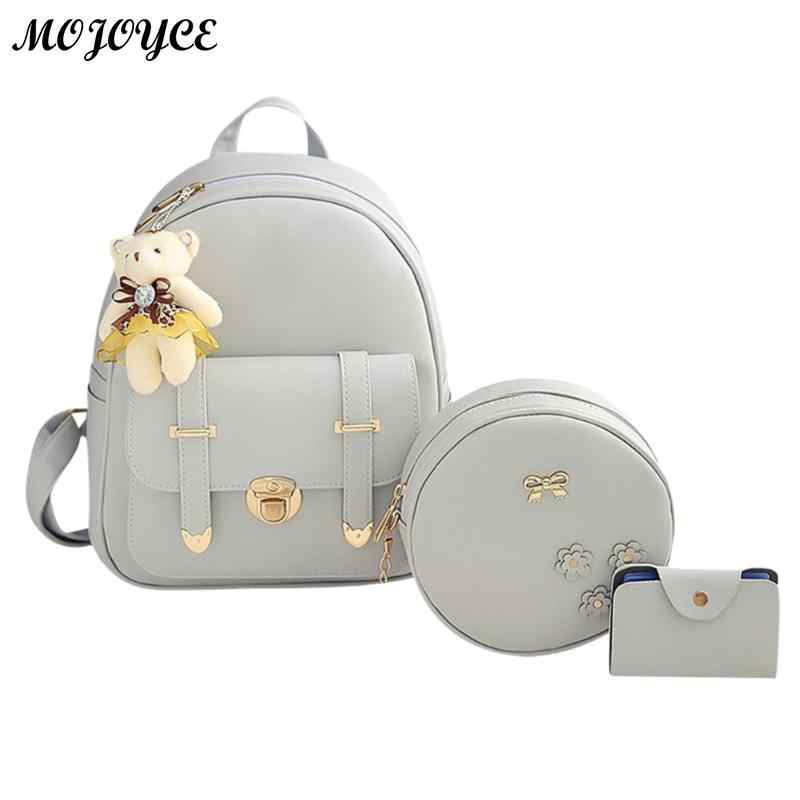 3pcs/Set 2018 Hot Cool Backpack Double Arrow Women Backpack Quality Fashion Girls School Bag School Bag Mujer New Designed Brand