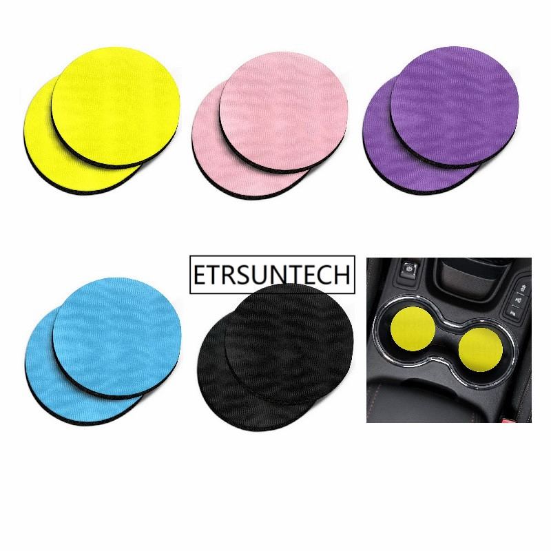 100pcs Solid Color Design Absorbent ROUND Fabric Felt Neoprene Car Coasters Car Cup Mat for Drinks
