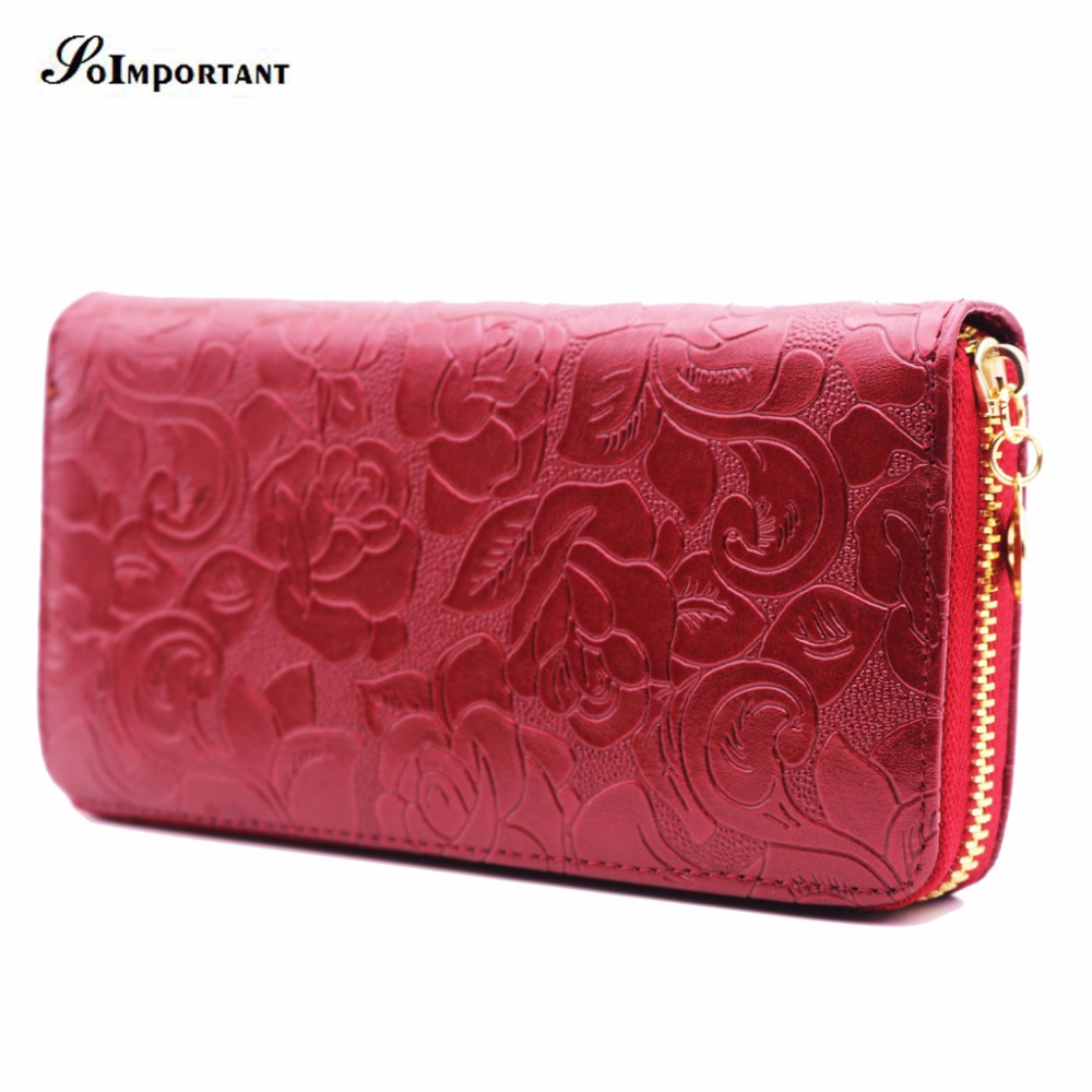 Flowers Wallet Female Leather Coin Purse
