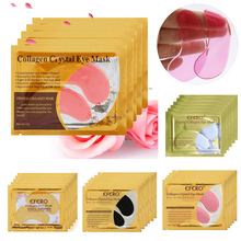 16pcs=8pack Crystal Collagen Eye Mask Patches Reduces Dark Circles Bags Eye Lines for Eyes Anti-Wrinkle Anti Aging Eye Care Mask 8pack 16pcs collagen crystal eye mask moisturizing anti wrinkle mask eye patches pads dark circles anti aging face mask care