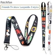 Patchfan друзья ТВ шоу забавные шейные ремешки для ключей очки держатель для карт Бисера Брелок телефоны камеры webbings A1371