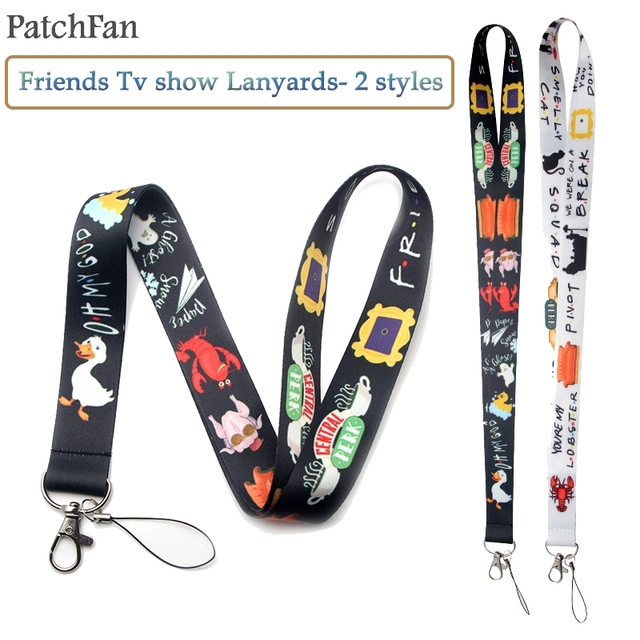 Patchfan Friends tv show funny neck lanyards for keys glasses card holder bead keychain phones cameras webbings A1371