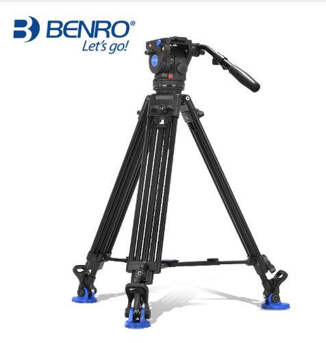 benro BV6 BV4 BV8 BV10 Series Camera Tripod Adjustable Damping Hydraulic PTZ Photography Professional Tripod
