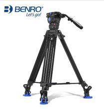 Benro BV6/BV4/BV8/BV10 serisi kamera tripodu ayarlanabilir sönümleme hidrolik PTZ fotoğraf profesyonel Tripod