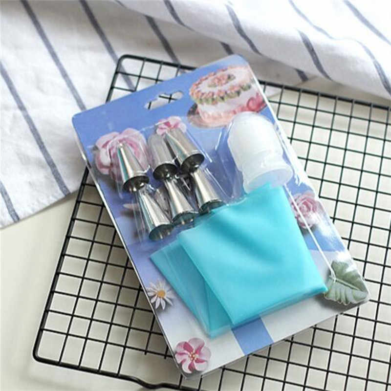 Food Grade Eco-Friendly Silicone Pastry Bag Cupcake Icing Piping Cream Nozzles Set DIY Cake Cookies Dessert Decorating Tips