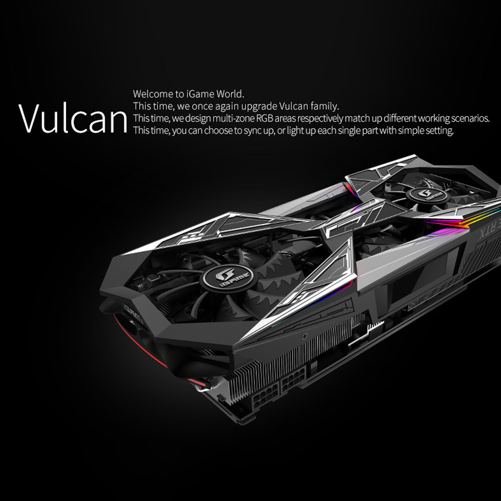 US $1305 85 34% OFF|Colorful GeForce RTX 2080Ti Vulcan X OC Graphic Card  GDDR6 11G GPU Nvidia 2080 Ti Graphics Video card Air Cooling For Gaming  PC-in