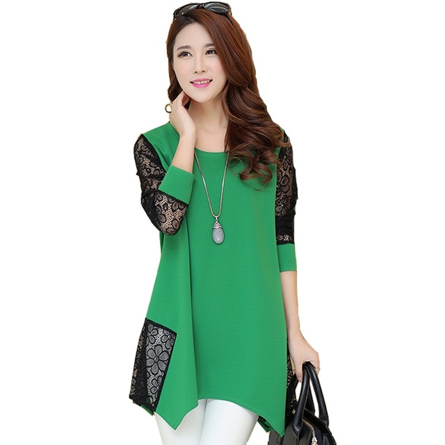 2015 Fashion High Quality Long Sleeve Women Shirts Vintage Blouse Plus Size Women Clothing Femininas Blusas Womens Tops 551J 20