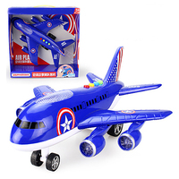 Free Shipping Wrestling Oversized Inertia Children S Toys Aircraft Simulation 380 Aircraft Music Toy Cart Model
