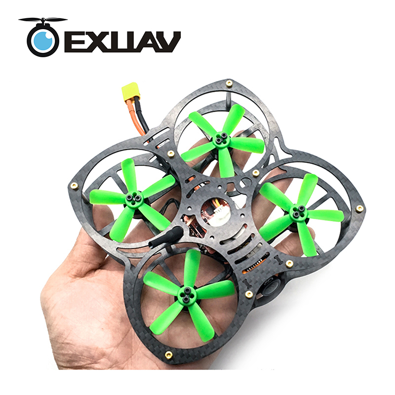 EXUAV 90 Mini Butterfly FPV Racing Drone Packages 90MM Wheelbase 1.5mm Arm Carbon Fiber Frame Bionics H Structure RC DIY Toys