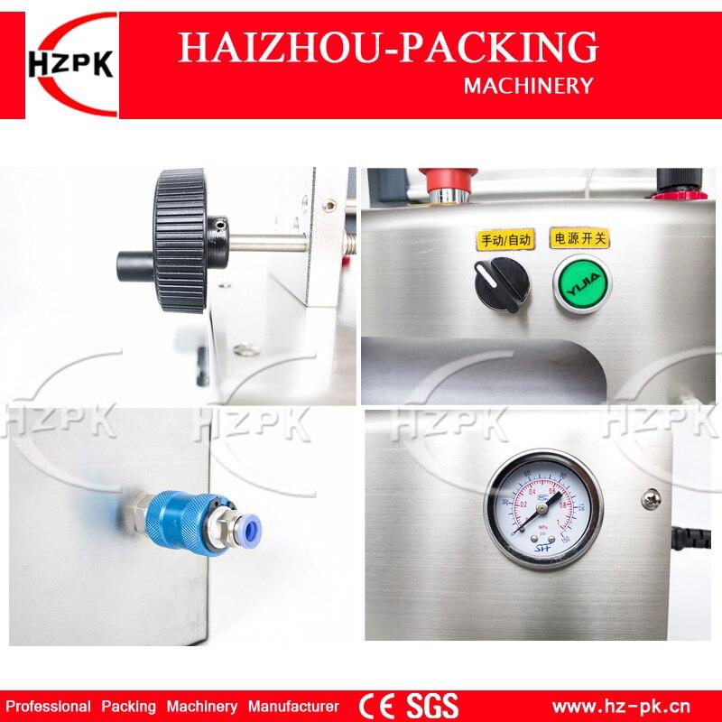 Купить с кэшбэком HZPK Semi-auto Liquid Filler Stainless Steel Single Filling nozzle Liquid Filling Machine For,Cosmetic,Juice 10-100ml G1WYD100