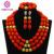 2017 Pretty Joyería de la Boda Africana Coral Beads Necklace Set CJ369 Nigeriano Collar de Perlas Joyas Conjunto Completo Envío Libre