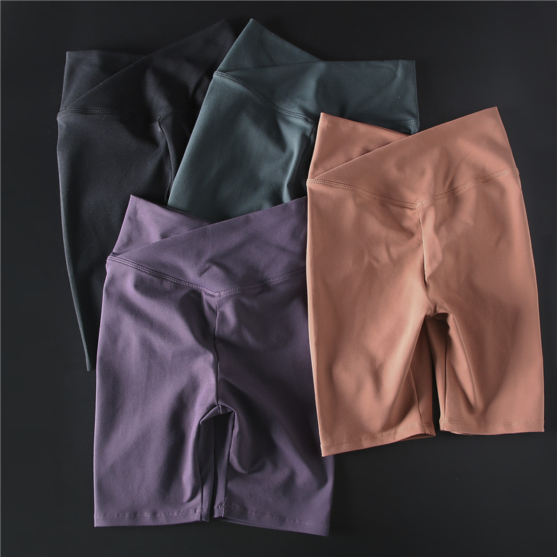 Women's Yoga Shorts Tights Sexy High Waist Sports Short Quick Dry Athletic Skinny Fitness Shorts Running Workout Riding Shorts
