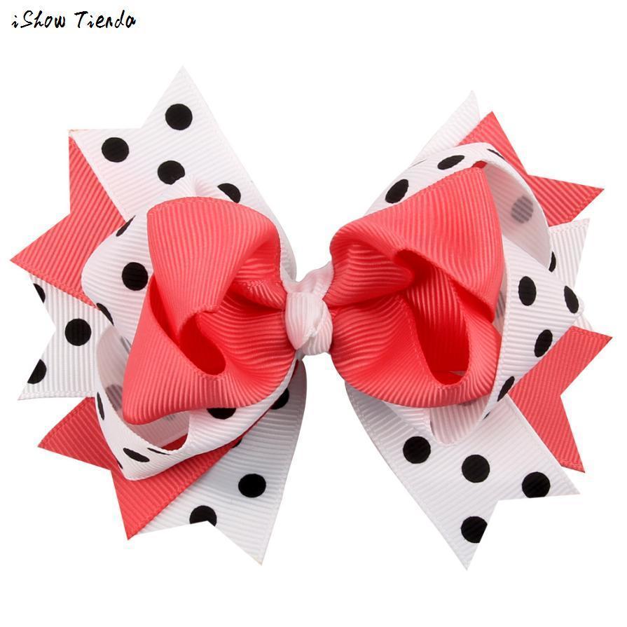 Kids Hair Clips Dot Bow Hairband Turban Knot Tiaras E Acessorios De Cabelo Infantil #2458