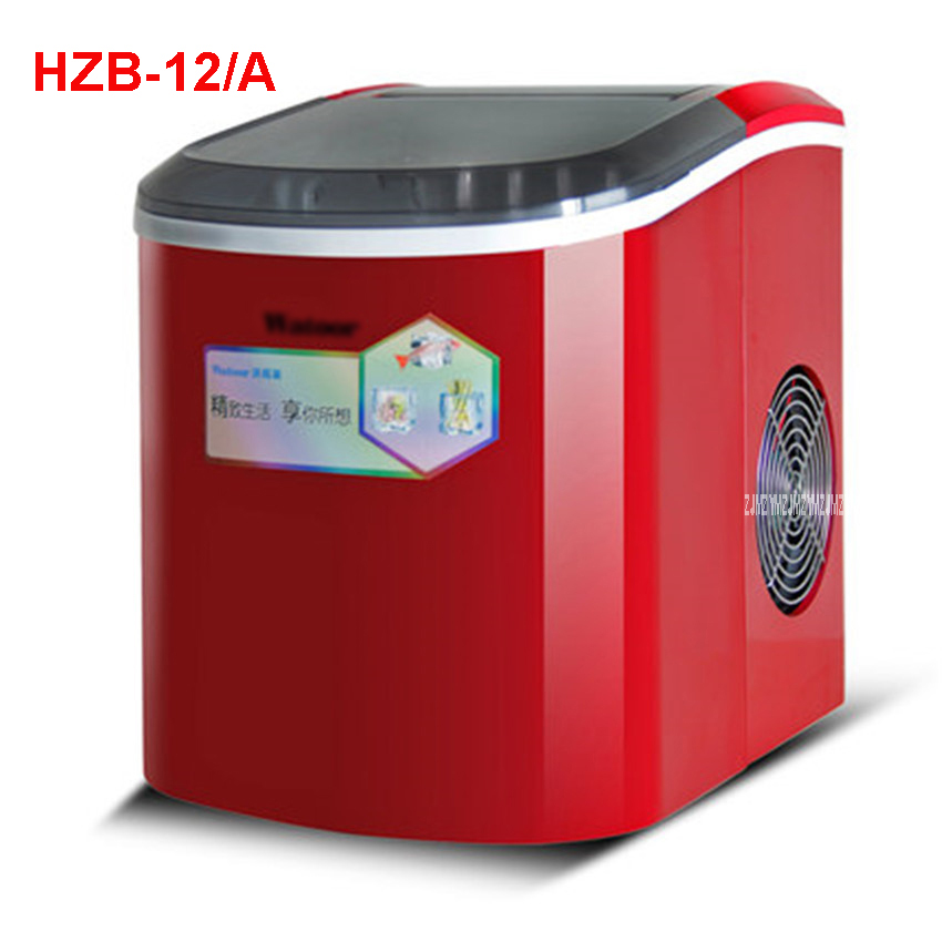 HZB-12/A 220 V/ 50 Hz Ice machine commercial milk tea shop home small automatic ice machine large capacity 15kg/24h Ice Maker ice shaving machine snow cone maker for milk tea shop