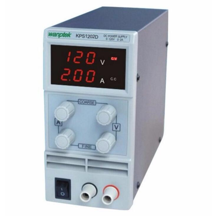 KPS1202D Adjustable High precision double LED display switch DC Power Supply protection function 120V2A 110V/220V 0.1V/0.01A EU каркам dc 1202