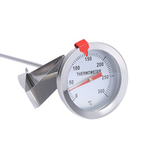 12 #8222 długie ze stali nierdzewnej piekarnik grill termometr z sondą z klipsem do żywności mięso wina Homebrew żywności mięso Gauge tanie tanio Gospodarstw domowych termometry Skala Termometry kuchenne Metal
