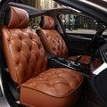 Cadeiras almofadas de assento do carro do inverno almofada grossa cheia do couro do plutônio para bmw 525 320 730 keep warm seat covers para audi a6 4 3 x5