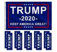 50pcs Pack Donald Trump Make America Great Again Bumper Stickers President Campaign Sticker Self Adhesive