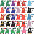 50 sets/2017 New Lots Kids Superhero Capes - Satin Capes and Soft Felt Masks For Child Halloween Birthday Party To Play Gifts