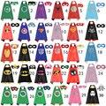 50 sets/2017 Nuevo Lotes Niños capas de Superhéroes de Capas de Raso y Máscaras Para Niños Fiesta de Cumpleaños de Halloween de Fieltro suave Para Jugar Regalos