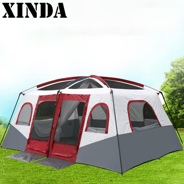 Comfortable Large Room 8-10 Person Double Layers C&ing Tent With Door A Room One & Comfortable Large Room 8 10 Person Double Layers Camping Tent With ...