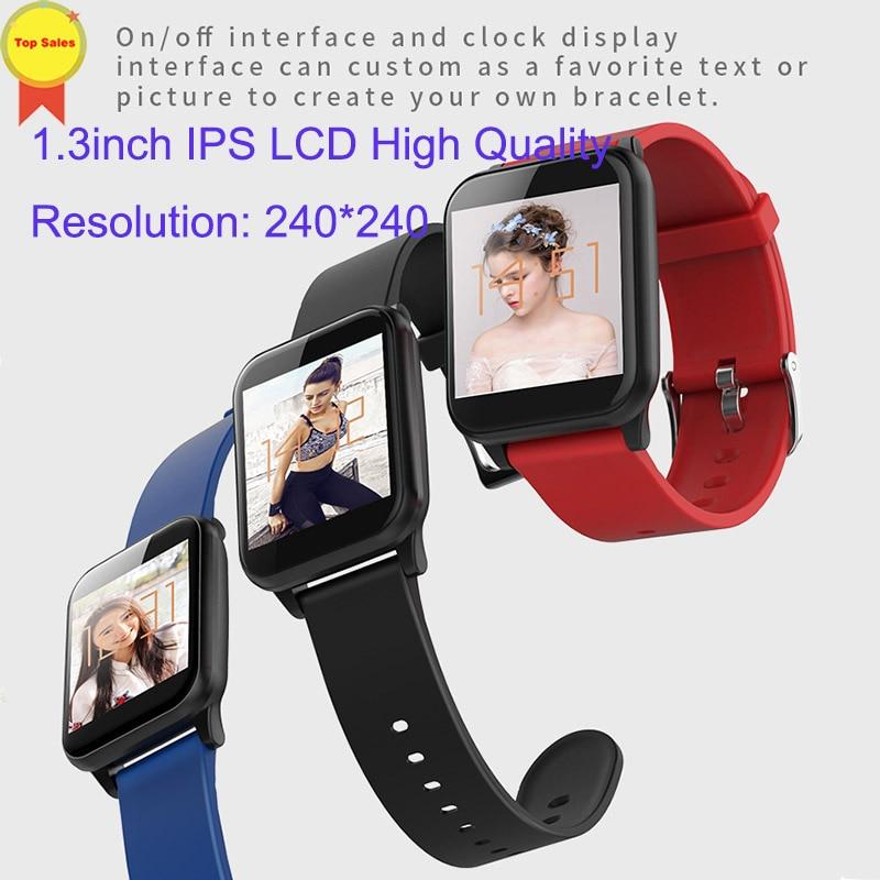 Montre-bracelet intelligente montres intelligentes moniteur de fréquence cardiaque numérique message push hommes Sport bande intelligente Bluetooth bande 4 IOS andorid